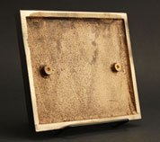 The concealed stud area for installation on a bronze casting plaque.