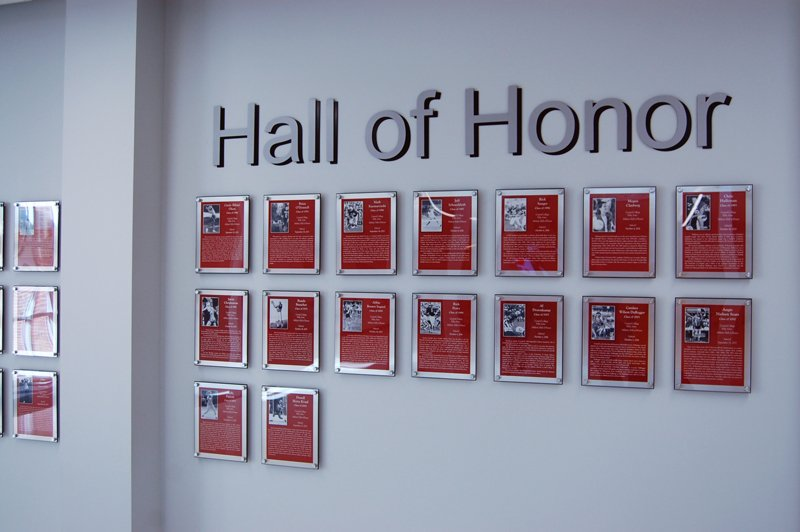 PEC brings modern style to Central College recognition wall