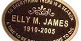 Classic bronze plaques convey timeless elegance