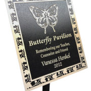 butterfly-pavilion-heavy-stake-pella-engraving