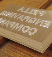 Magnesium die wood-mounted on plywood