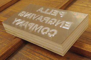 Letterpress Printing Dies Wood Mounted Magnesium Die