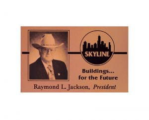 Metalphoto Skyline plaque with copper finish