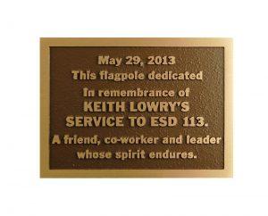 C1 Bronze Memorial Plaque