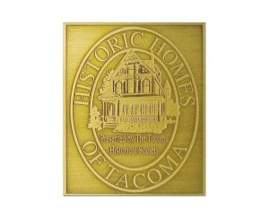D1 Antiqued Brass Plaque