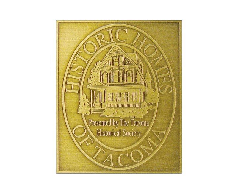 D1 Antiqued Brass Plaque