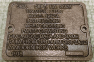 Zinc-etched data tag for tank recreation