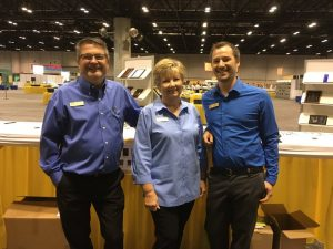 PEC Co-Owner Bruce Van Wyk, Trudi Van Wyk, and PEC minority owner Cory Vande Kieft staffed the company booth at the Million Dollar Round Table (MDRT) annual meeting.