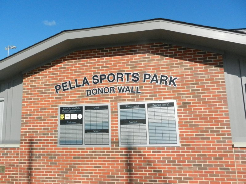 PEC's range of signage capabilities shines at new Pella Sports Park