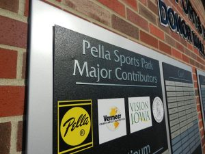 Pella-sports-park-donor-wall-closeup