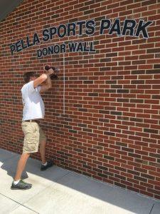Pella-sports-park-donor-wall-installation-1
