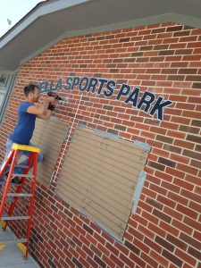 Pella-sports-park-donor-wall-installation-3
