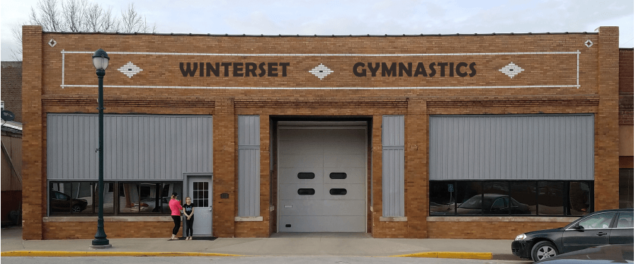 Winterset Gymnastics outdoor sign mock-up