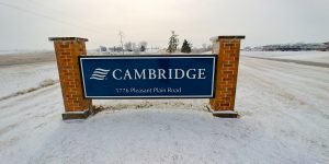 Cambridge freestanding sign
