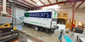 Bruxvoort's partial box truck wrap