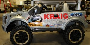 Kraig Ford partial vehicle wrap