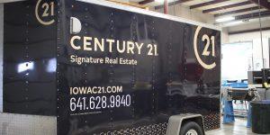 Century 21 partial trailer wrap