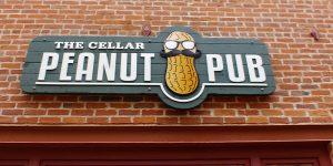 Peanut Pub wall-mounted sign