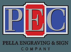 Pella Engraving & Sign Company stacked logo