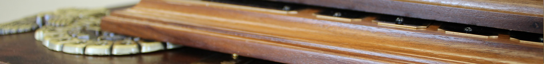 Header image with closeup of wooden plaque bases