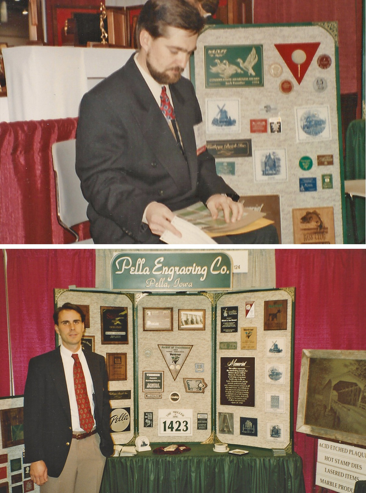 Bruce Van Wyk (top) and Jeff Vroom (bottom) working their first trade show.