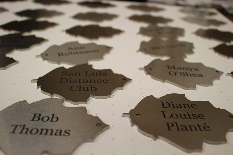 Laser engraved leaves complete