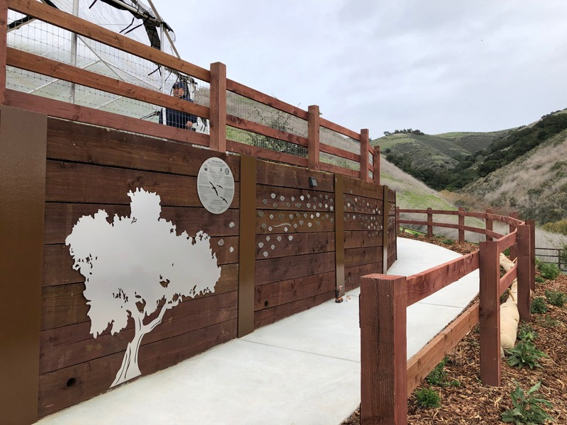 The completed wall, installed at Pismo Preserve.