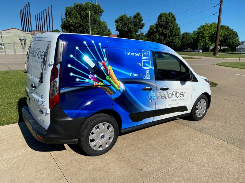 Pella Fiber fleet ready to roll with vehicle wraps from PEC
